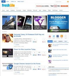 Fresh Life Blogger Template
