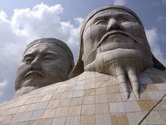 Genghis khan and Kublai Khan Kublai Khan, Genghis Khan, Marco Polo, Mongolia, Tibet, Sculptures, Ice Cream, Statue, No Churn Ice Cream
