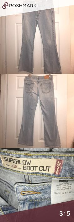 Super low 518 LEVIS Barely used Levi's denim. 518 Super low distressed look. Gorgeous jeans. Size 7 Juniors. These don't fit me anymore. Took much booty now after babies 😍. Make an offer. Fast shipping smoke/pet free home. Feel free to ask questions !! Levi's Jeans Boot Cut
