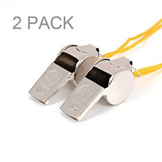 Camping Signal Whistles - PartstockTM Metal Loud Whistle  With LanyardsPerfect For Referees Officials CoachesTrainingSportsTeacherLifeguardProtection SurvivalEmergencyetc >>> You can get more details by clicking on the image.