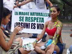 Caminata de Cuerpos Pintados para Salvar al Yasuní. Guayaquil, 12 sep. 2013. #Yasunidos