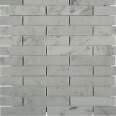 Carrara X 4 Big Brick Pattern Marble Mosaic Tiles Marble Mosaic, Stone Mosaic, Stone Tiles, Mosaic Tiles, Wall Tiles, Cabana Decor, Brick Tiles, Brick Patterns, Commercial Flooring