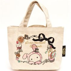 canvas linen Sentimental Circus handbag rabbit