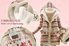 Free Shipping 2012 BEST Winter NEW Female Medium long Thicken Snowflakes HOT Sweater Outerwear With a Hood Sweater Cardigan-in Cardigans from Apparel & Accessories on Aliexpress.com