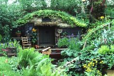 "Bunny Guinness -  first gold medal at Chelsea for her ""Wind in the Willows' garden- 1994"