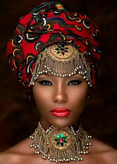 Regal and glorious, black women have a long history of adorning themselves with head wraps. If we are queens, then they are our crowns. Bronx photographer Joey Rosado of Island Boi Photography has … African Dresses For Women, African Men Fashion, African Attire, African Beauty, African Style, African Art, Ankara Mode, Moda Afro, Ghanaian Fashion