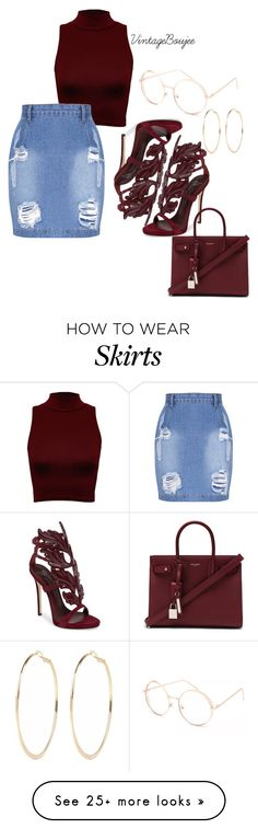 """""""Untitled #183"""" by vintageboujee on Polyvore featuring WearAll, Giuseppe Zanotti, Yves Saint Laurent, Full Tilt and River Island"""