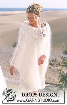 Free Pattern: 89-25 Poncho with crocheted flowers