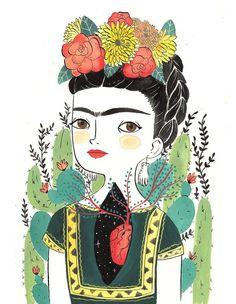 Plant Illustration, Photo Illustration, Watercolor Illustration, Kahlo Paintings, Happy Paintings, Simple Acrylic Paintings, Watercolor Paintings, Maria Hesse, Frida Art