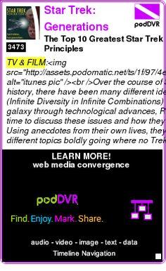 #TV #PODCAST  Star Trek: Generations    The Top 10 Greatest Star Trek Principles    LISTEN...  http://podDVR.COM/?c=9acb6eac-0e90-38e4-3b3f-2d6b5d689d02