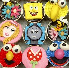how to make character cupcakes