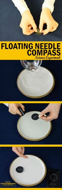 Make a compass out of a needle. Great way to introduce the concept of magnetism Easy Science Experiments, Science Activities For Kids, Science Fair Projects, Preschool Science, Bible Science, Steam Activities, Stem Projects, Teaching Science, Second Grade Science