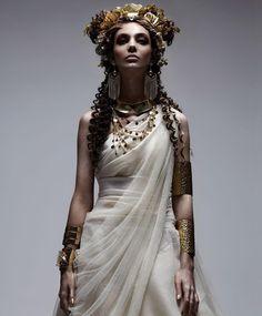 Greco-roman goddess. #Toga #Jewelry #Elegant