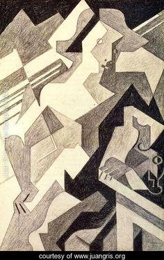Harlequin at Table - Juan Gris - www.juangris.org