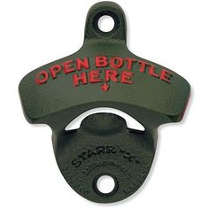 1 X Green Open Bottle Here Starr X Wall Mount Bottle Opener  Powder Coated  New * Be sure to check out this awesome product.Note:It is affiliate link to Amazon. #repost