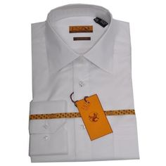 8f6876da8db Cotton Shirt White Regular Cuff 61101-1-B  55 Mens Dress Shirts Dress.