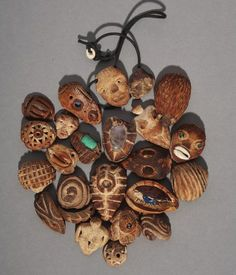 avocado seed art and jewelry