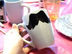 How to make your own mustache mugs, including mustache templates.