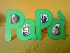 Cornice porta foto con la scritta papà Fathers Day Crafts, Happy Fathers Day, Projects For Kids, Crafts For Kids, Father's Day Activities, My Dad My Hero, Daddy Day, Mother And Father, Kids And Parenting