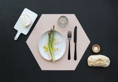FUN HEXAGON PLACEMATS FROM BY MAY