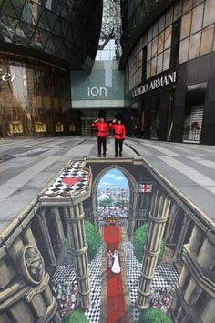 #Wasabi3D | #3DStreetArt | Experiential Social Media | Westminster Royal Wedding