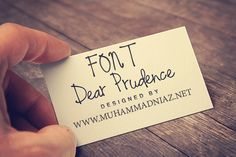Dear Prudence Font Cover