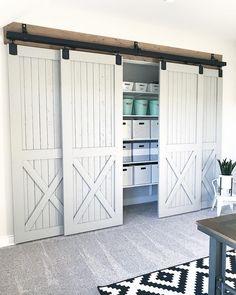 brian built barn doors. 2,358 Likes, 150 Comments - Holly | Our Faux Farmhouse (@ourfauxfarmhouse) On. Playroom ClosetBuild StuffSliding Barn DoorsOrganizing Brian Built Doors ;