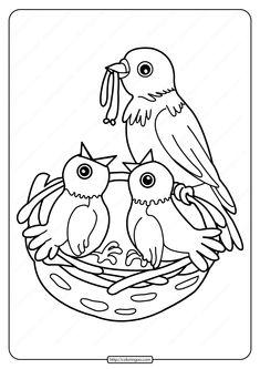 vogel ausmalbilder für kinder | vogel malvorlagen, ausmalbilder, malvorlagen