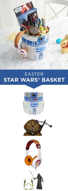 Put a galactic twist on an Easter basket for the biggest Star Wars fan. Start with an R2D2 basket and build with Star Wars-themed goodies from there including BB-8 headphones or a Chewbacca bluetooth speaker. Head to Kohl's for all things Easter (and Star Wars).