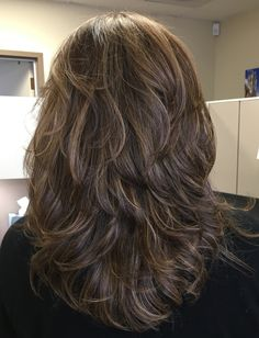 This is exactly what I've been wanting for years! Long Layered Hair, Medium Long Hair, Layered Haircuts For Medium Hair, Long Layer Haircuts, Haircut For Thick Hair, Haircuts For Long Hair, Long Hair Cuts, Layered Hair With Bangs, Medium Hair Styles