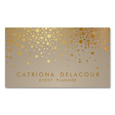 2207 best wedding business card templates images on pinterest faux gold foil confetti business card colourmoves