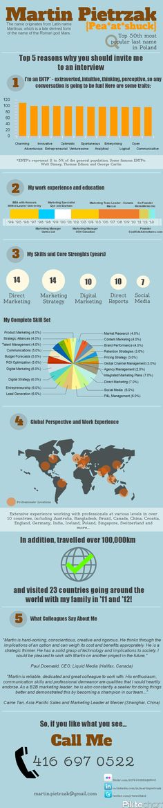 Infographic Resume by Diallo Shabazz, via Behance CV Design - my first resume