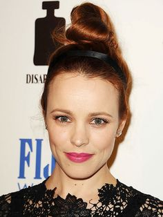 The top knop is the perfect hairstyle for dressing up or dressing down: http://www.bhg.com/beauty-fashion/hair/15-easy-celebrity-updos/?socsrc=bhgpin032615rachelmcadams&page=11