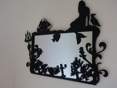 The Little Mermaid mirror, this is so cool. I wish I was still in studio and could laser cut stufff Little Mermaid Bathroom, Mermaid Bedroom, Ariel The Little Mermaid, Disney Bathroom, Ariel Mermaid, Disney Love, Disney Magic, Disney Stuff, Disney Rooms