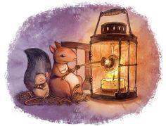 """Lo scoiattolo erborista """"squirrel herbalist"""" merenda  http://kettyformaggio.blogspot.it/2015/10/lo-scoiattolo-erborista.html"""