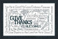 LET'S BE THANKFUL  Imaginating Cross Stitch by TheAngelsNook