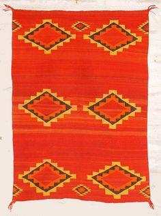 Navajo child's blanket/saddle blanket, ca. 1880.
