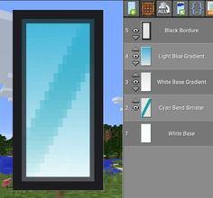 Minecraft Mirror Banner