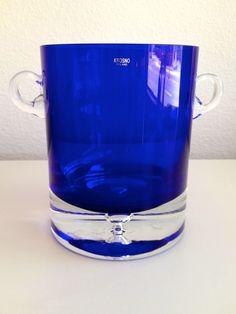 KROSNO Crystal Cobalt Blue Ice Bucket
