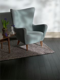 Black solid wood flooring - just as beautiful as its more natural-coloured counterparts!