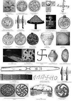 birkibeinar:  Germanic-Swastikas