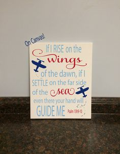 **Can completely customize this piece with different colors!! Just send me a message!**  This is NOT a print on paper. It is printed on canvas. Perfect canvas for any airplane themed nursery or room! It also makes a great gift! No need for frame. Comes with a saw tooth hanger on the back (nail for hanging not included). It is also sealed with a clear varnish to protect the painting. Can be wiped clean with a damp cloth. This listing includes: 1 8x10 or 11x14 printed alphabet and image on…