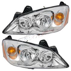 New Pontiac G6 2005-2010 Headlights Headlamp Assembly Left & Right Side Pair Set #NewAfterReplacement