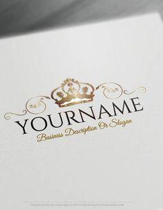 Create a logo Free – Crest Crown Logo Templates …
