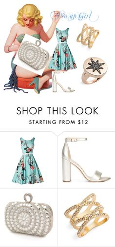 """Pin up Girl"" by beatefeick on Polyvore featuring Mode, Sam Edelman, Mascara, BP., Topshop, flower, star, pinup und crisscross"