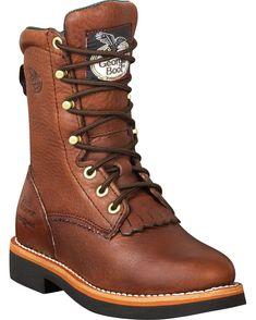 "Georgia Boots Women's 8"" Lacer Work Boots. They're cuter than others like it and would be great for hiking."