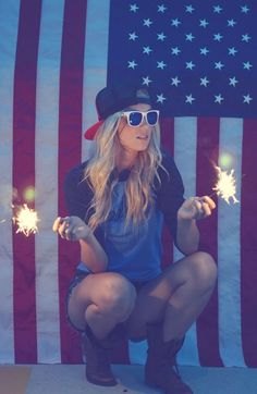 Sparklers, shades, and USA #redwhiteandblue #4thofjuly