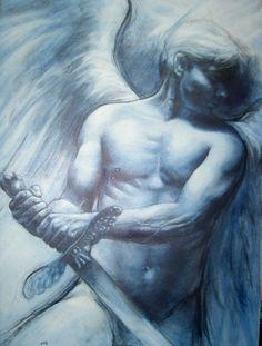 ARCANGEL MIGUEL dibujado por AMERICO HUME (Chile, 2005)