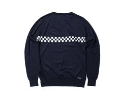 uniform experiment TURFAN COTTON CHECKER V NECK KNIT