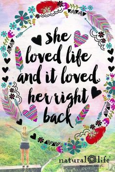 hippie life 9922061655104004 - She loved life and it love her right back! Source by naturallife Happy Thoughts, Positive Thoughts, Positive Quotes, Yoga Studio Design, Words Quotes, Love Quotes, Inspirational Quotes, Motivational Stories, Pretty Quotes
